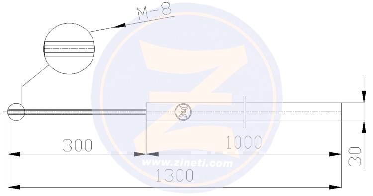 Grounding anode with interior threaded rod Z-30100