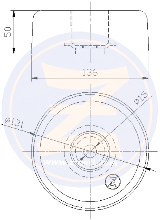 Zinc disc anode for Baglietto transom with plug Z-80BA0545