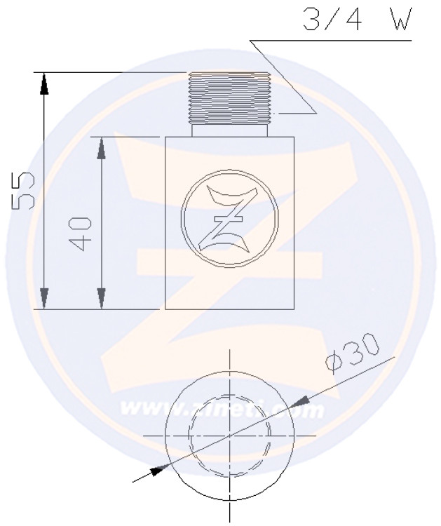 Zinc anode for Caterpillar engine cooling system