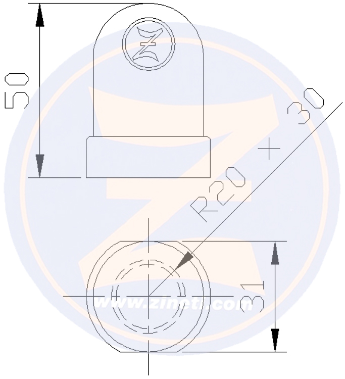 Shaft nut for Renault Marine Couach