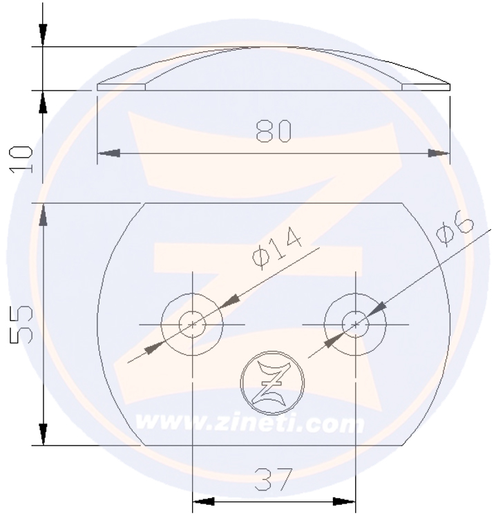 Zinc plate for Renault Marine Couach engine