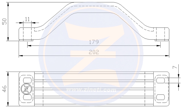 Zinc bracket for outboard engine support F200/225, LF200/225, LX225/250, LZ150/200/250, SX225/250, VX 150/200/225/250, Z150/175/200/250 Series