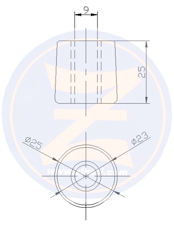 Conic anode with insert to HJ 292/362 Series