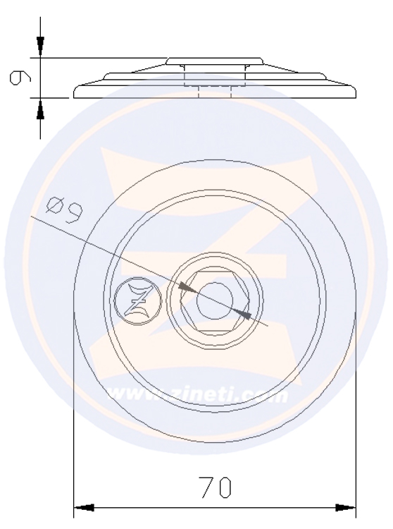 Disc for flaps and/or rudders A-2696