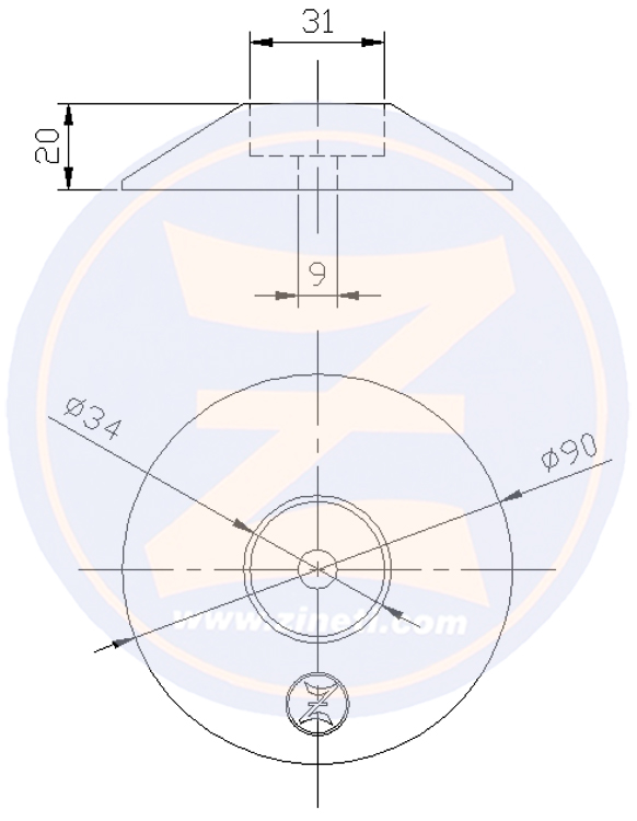 Disc for flaps and/or rudders A-DSF90