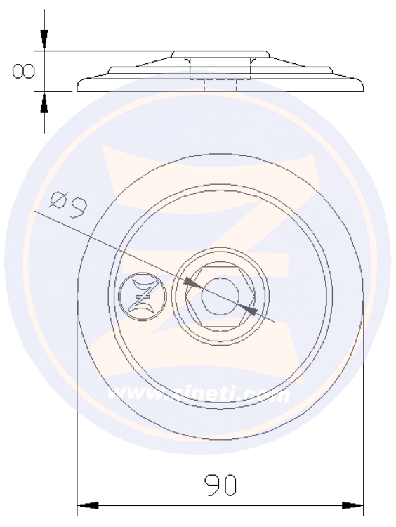 Disc for flaps and/or rudders