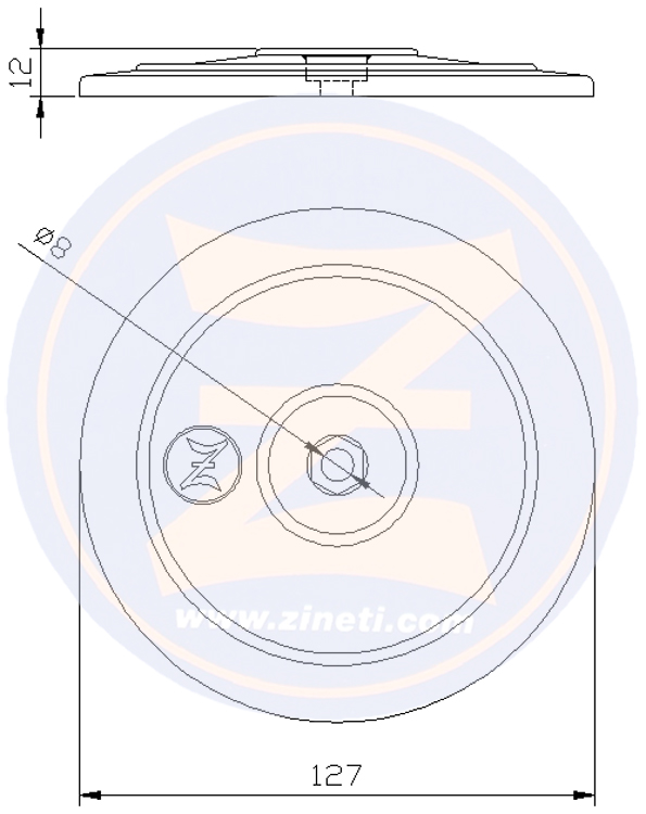 Disc for flaps and/or rudders M-2697