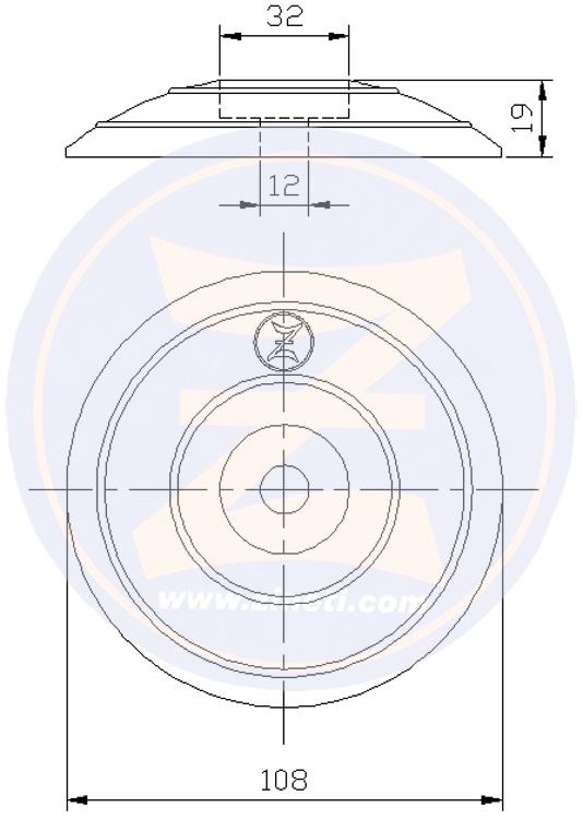 Disc for flaps and/or rudders M-2697F