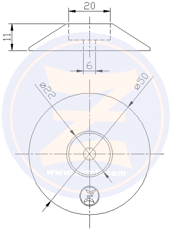 Disc for flaps and/or rudders M-DSF50