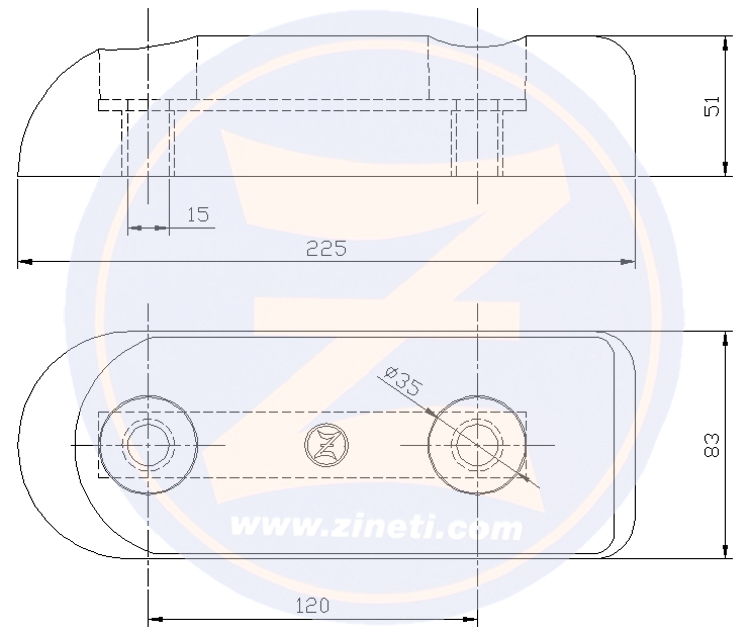 Hamilton plate 120 mm betwin holes