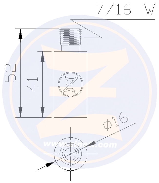 Pencil anode for VOLVO cooler