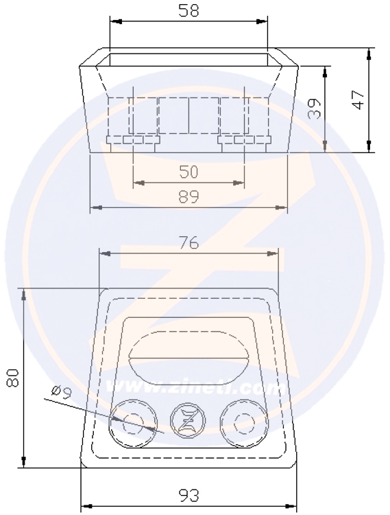 Block type anode for transom shield Volvo Penta SX-DPSRef original: 3854130 Z-3202 Volvo