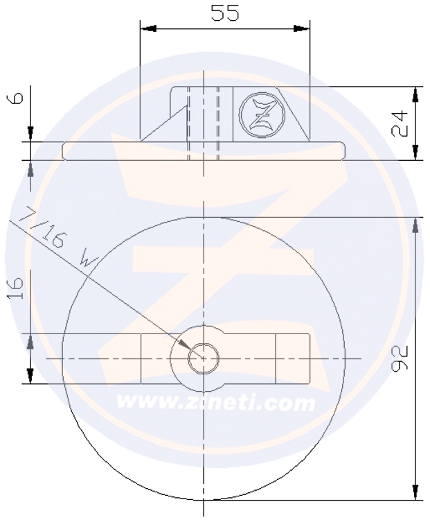Circular plate with thread for OXE DIESELRef original: 30-0111-066 Z-4201 OXE